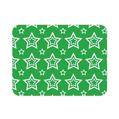 Green White Star Line Space Double Sided Flano Blanket (mini)  by Alisyart