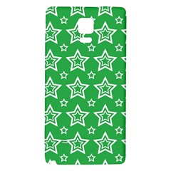 Green White Star Line Space Galaxy Note 4 Back Case by Alisyart
