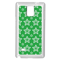 Green White Star Line Space Samsung Galaxy Note 4 Case (white) by Alisyart