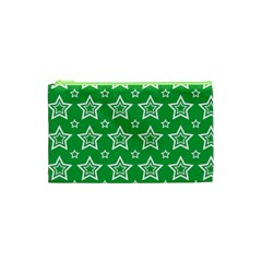 Green White Star Line Space Cosmetic Bag (xs)