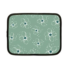 Floral Flower Rose Sunflower Grey Netbook Case (small)  by Alisyart