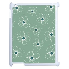 Floral Flower Rose Sunflower Grey Apple Ipad 2 Case (white)
