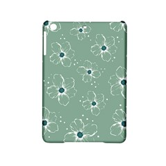 Floral Flower Rose Sunflower Grey Ipad Mini 2 Hardshell Cases by Alisyart