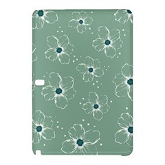 Floral Flower Rose Sunflower Grey Samsung Galaxy Tab Pro 10 1 Hardshell Case by Alisyart