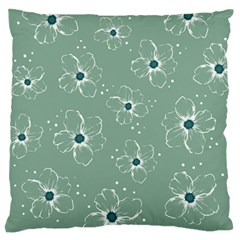 Floral Flower Rose Sunflower Grey Standard Flano Cushion Case (one Side) by Alisyart