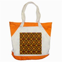 Abstract Yellow Red Frame Flower Floral Accent Tote Bag