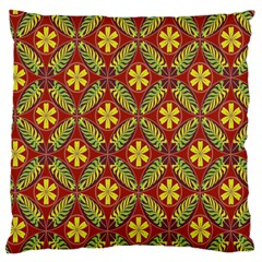 Abstract Yellow Red Frame Flower Floral Large Cushion Case (one Side)