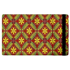 Abstract Yellow Red Frame Flower Floral Apple Ipad 3/4 Flip Case by Alisyart
