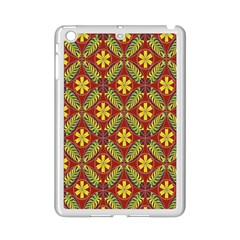 Abstract Yellow Red Frame Flower Floral Ipad Mini 2 Enamel Coated Cases