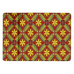 Abstract Yellow Red Frame Flower Floral Samsung Galaxy Tab 10 1  P7500 Flip Case