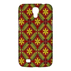 Abstract Yellow Red Frame Flower Floral Samsung Galaxy Mega 6 3  I9200 Hardshell Case by Alisyart