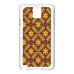 Abstract Yellow Red Frame Flower Floral Samsung Galaxy Note 3 N9005 Case (white) by Alisyart