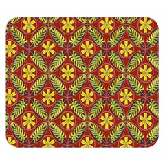 Abstract Yellow Red Frame Flower Floral Double Sided Flano Blanket (small)  by Alisyart
