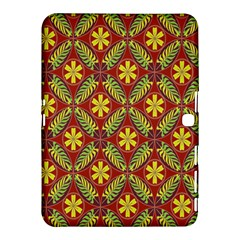 Abstract Yellow Red Frame Flower Floral Samsung Galaxy Tab 4 (10 1 ) Hardshell Case  by Alisyart