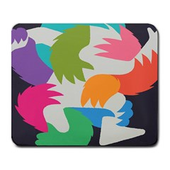 Hand Rainbow Blue Green Pink Purple Orange Monster Large Mousepads by Alisyart