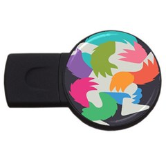 Hand Rainbow Blue Green Pink Purple Orange Monster Usb Flash Drive Round (2 Gb) by Alisyart