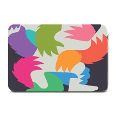 Hand Rainbow Blue Green Pink Purple Orange Monster Plate Mats
