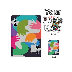 Hand Rainbow Blue Green Pink Purple Orange Monster Playing Cards 54 (mini)  by Alisyart