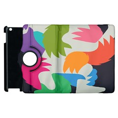 Hand Rainbow Blue Green Pink Purple Orange Monster Apple Ipad 2 Flip 360 Case by Alisyart