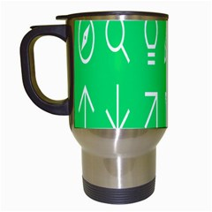 Icon Sign Green White Travel Mugs (white) by Alisyart