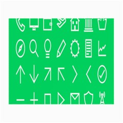 Icon Sign Green White Small Glasses Cloth by Alisyart
