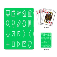 Icon Sign Green White Playing Card by Alisyart