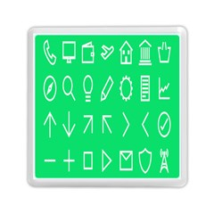 Icon Sign Green White Memory Card Reader (square)  by Alisyart