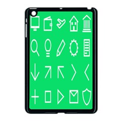Icon Sign Green White Apple Ipad Mini Case (black) by Alisyart