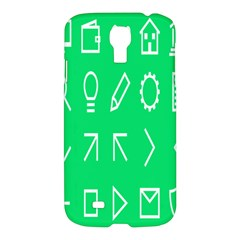 Icon Sign Green White Samsung Galaxy S4 I9500/i9505 Hardshell Case by Alisyart