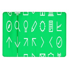 Icon Sign Green White Samsung Galaxy Tab 10 1  P7500 Flip Case