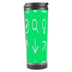 Icon Sign Green White Travel Tumbler by Alisyart