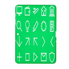 Icon Sign Green White Samsung Galaxy Tab 2 (10 1 ) P5100 Hardshell Case  by Alisyart