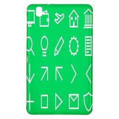 Icon Sign Green White Samsung Galaxy Tab Pro 8 4 Hardshell Case by Alisyart