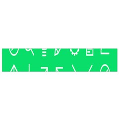 Icon Sign Green White Flano Scarf (small) by Alisyart