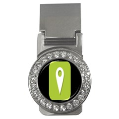 Location Icon Graphic Green White Black Money Clips (cz)