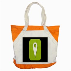Location Icon Graphic Green White Black Accent Tote Bag by Alisyart