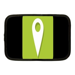 Location Icon Graphic Green White Black Netbook Case (medium)  by Alisyart