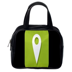 Location Icon Graphic Green White Black Classic Handbags (one Side) by Alisyart