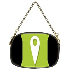 Location Icon Graphic Green White Black Chain Purses (one Side)  by Alisyart
