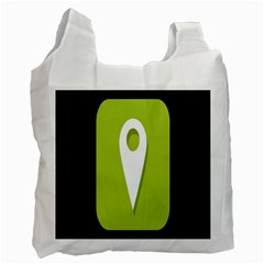 Location Icon Graphic Green White Black Recycle Bag (two Side)  by Alisyart