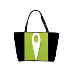 Location Icon Graphic Green White Black Shoulder Handbags by Alisyart