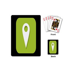 Location Icon Graphic Green White Black Playing Cards (mini)  by Alisyart