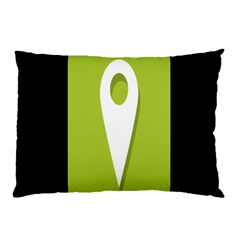 Location Icon Graphic Green White Black Pillow Case (two Sides) by Alisyart