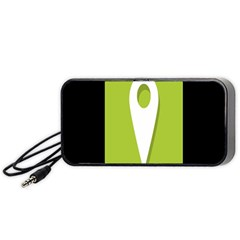 Location Icon Graphic Green White Black Portable Speaker (black) by Alisyart