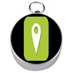 Location Icon Graphic Green White Black Silver Compasses by Alisyart