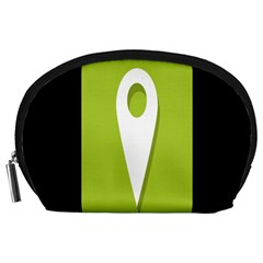 Location Icon Graphic Green White Black Accessory Pouches (large)  by Alisyart