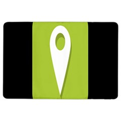 Location Icon Graphic Green White Black Ipad Air 2 Flip by Alisyart