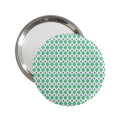 Crown King Triangle Plaid Wave Green White 2 25  Handbag Mirrors by Alisyart