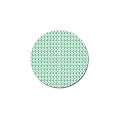 Crown King Triangle Plaid Wave Green White Golf Ball Marker (10 Pack)