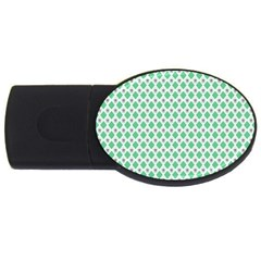 Crown King Triangle Plaid Wave Green White Usb Flash Drive Oval (2 Gb) by Alisyart